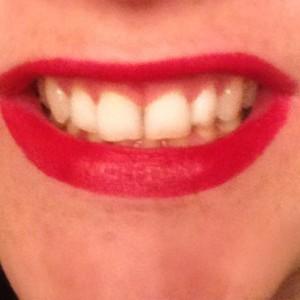 pleasure me red smile